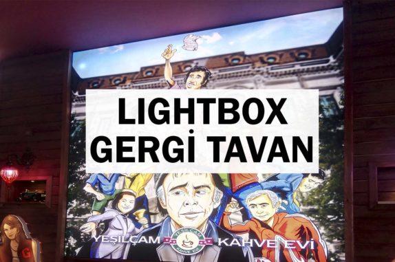 lightbox gergi tavan uygulama